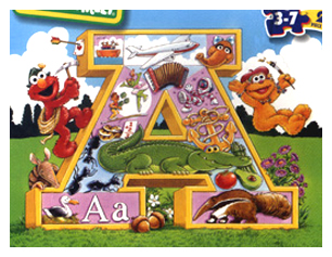 Sesame Street Muppets_Elmo_Zoe_Letter A Puzzle