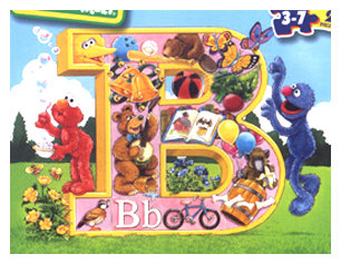 Sesame Street Muppets_Elmo_Grover_Letter B Puzzle