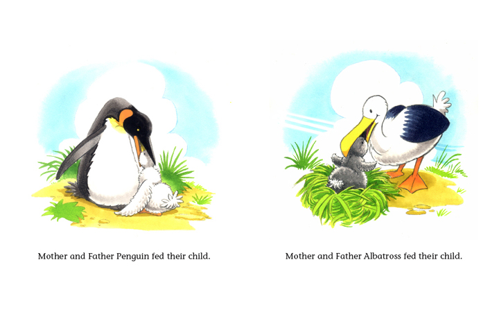 Read-Aloud Book_The Penguin Child and the Albatross Child_Feeding babies4