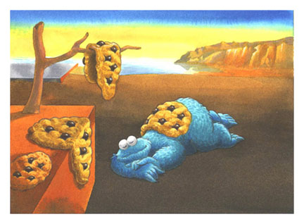 Salvador Dali_Persistence Of Memory_Sesame Street Muppets_Parody