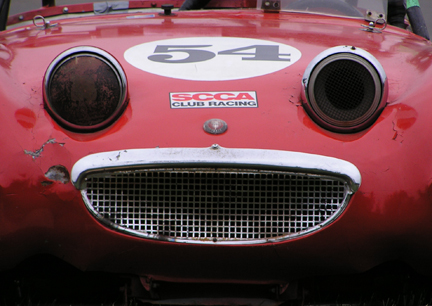 Faces_Inanimate Objects_Austin-Healy_Red